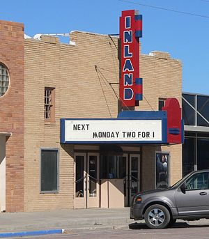 National Register of Historic Places listings in Bennett County, South Dakota - Image: Inland Theater (Martin, SD) from SW 1