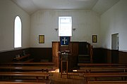 The interior of the church at Oiseabhal, St Kilda