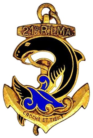 21st Marine Infantry Regiment - Regimental insigne