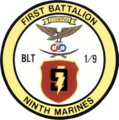 Insignia of the 1st Battalion, 9th US Marine Regiment 1991.png