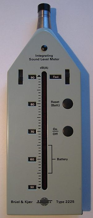 Noise control - A sound level meter, a basic tool in measuring sound.