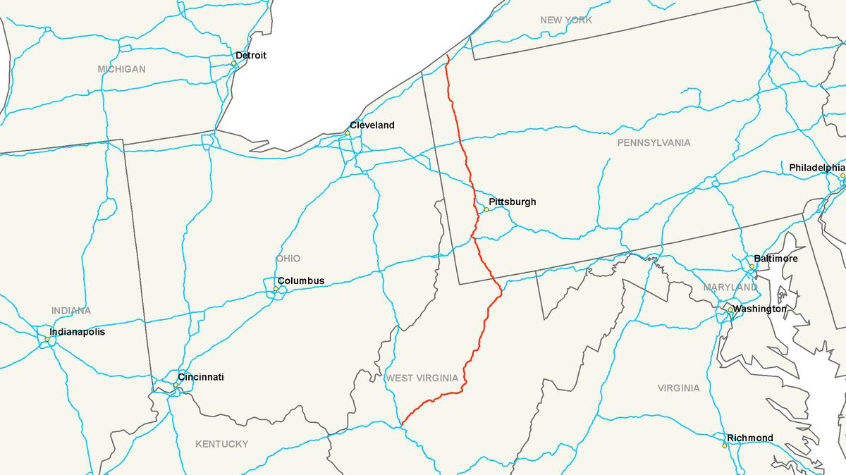 Mason-Dixon Line Western Crossings