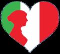 Interwiki women red Italian logo.png