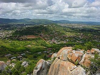 Iringa - A view of Iringa from a hill top.