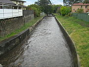 Iron Cove Creek looking upstream after rain
