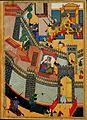 Isfandiyar kills Arjasp to rescue his sisters. Baysungur's Shahnama, 1430. The Gulistan Palace Museum, Tehran.f401.jpg