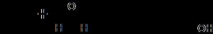 Reaktion von Isobuten mit Formaldehyd zu Isoprenol (erster Schritt).