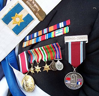 Israeli military decorations - Image: Israeli veteran