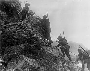 Italian Front (World War I) - Italian Alpini troops; 1915