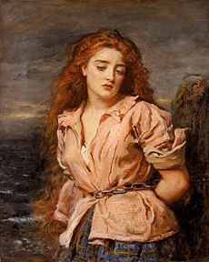 JOHN EVERETT MILLAIS - The Martyr of the Solway (Walker Art Gallery, Liverpool, c. 1871. %C3%93leo sobre lienzo, 70.5 x 56.5 cm)