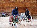 JORDAN, Petra (localnici pe magarusi) (BIM).JPG