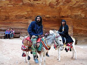 Nabataean Kingdom - Members of the Bdoul tribe in Petra, that claim descent from the ancient Nabataeans.
