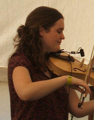 Jackie Oates - Oates at Priddy Folk Festival in 2008