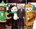 Jacques Rogge with Vancouver Olympic Mascots.jpg