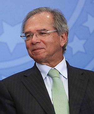Jair Bolsonaro e Paulo Guedes em solenidade (cropped).jpg