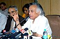 Jairam Ramesh briefing the media about the outcome of National Board for Wildlife meeting which was convened by the Prime Minister, in New Delhi on March 20, 2010.jpg