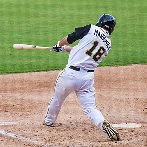Jake Marisnick - Marisnick batting for the Jacksonville Suns (2013)