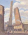 Jakob Alt - Die Türme Asinelli und Garisenda in Bologna - ca1836.jpeg
