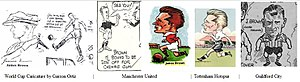 Jim Brown (soccer, born 1908) - James Brown Soccer Cartoons or Caricatures in the 1930s