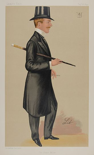 Sir James Percy Miller, 2nd Baronet - James Percy Miller, Vanity Fair caricature from 6 September 1890