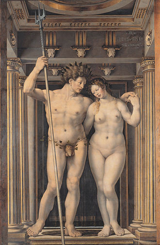 Philip of Burgundy (bishop) - Nepture and Amphitrite by Jan Gossaert in the Gemäldegalerie in Berlin. The Neptune of the painting is a symbolic personification of Philip's admiralty
