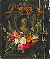 Jan Philip van Thielen and possibly Jan van den Hoecke - Garland of Flowers around the the Bust an Old Man in a Cartouche.jpg