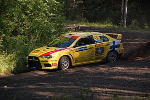 Pirelli Star Driver - Jarkko Nikara driving at 2009 Rally Finland