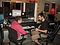 Jason and Ilya Working Out a Part, Recording Fischer, Compound Recordings, January 2008.jpg