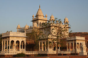 The Jaswant Thada mausoleum in Jodhpur, Rajast...
