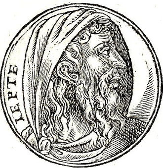 Jephthah - Jephthah, depicted here in Promptuarii Iconum Insigniorum of Guillaume Rouillé
