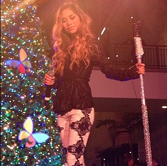 Jessica Sanchez - Jessica Sanchez performing at the Hollywood and Highland Tree Lighting in November 2013