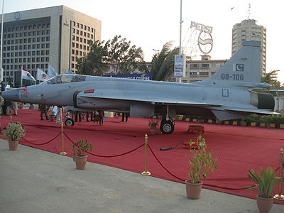 JF-17 at the IDEAS 2008 defence exhibition in Karachi, Pakistan