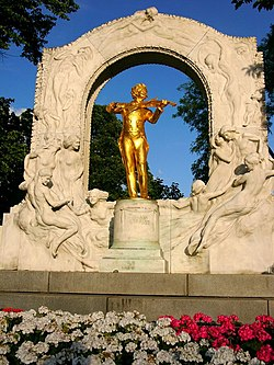 The Waltz King coming to life in the Stadtpark, Vienna