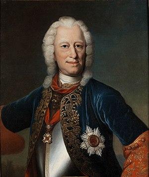 Ernest Louis, Landgrave of Hesse-Darmstadt - Portrait of Ernst Ludwig  by Johann Christian Fiedler