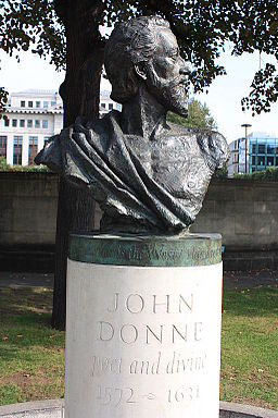 John Donne by Nigel Boonham, 2012, St Paul's Cathedral Garden
