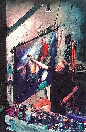 John Howley - John Howley in his studio