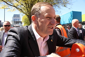 English: John Key at the reopening of City Mal...