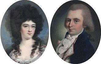 John Pintard - John and Elizabeth Pintard (John Ramage, 1787)