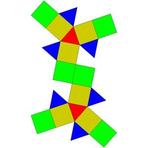 Elongated triangular gyrobicupola - Image: Johnson solid 36 net