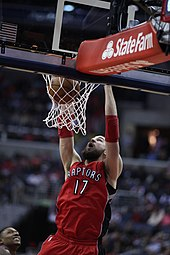430082fcf Jonas Valančiūnas with the Raptors in the first round of the 2015 playoffs  against the Washington Wizards.