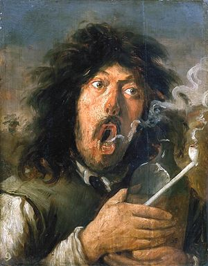 Joos van Craesbeeck - The Smoker, a presumed self portrait of van Craesbeek