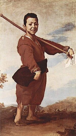 """Х. де Рибера. """"Хромоножка"""". 1642 г. Лувр. Париж"""