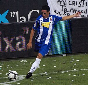José Callejón - Callejón taking a corner for Espanyol in 2009
