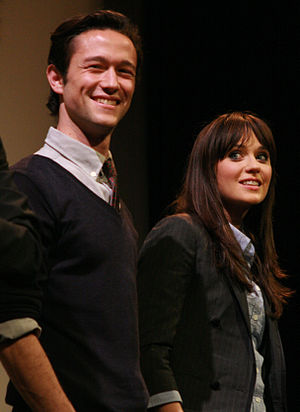 English: Joseph Gordon-Levitt and Zooey Descha...
