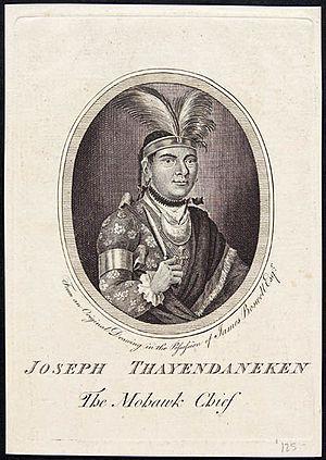 Joseph Brant - Joseph Thayendaneken, The Mohawk Chief, 1776.