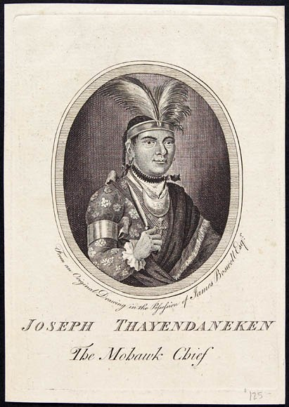 Joseph Thayendaneken, The Mohawk Chief, 1776