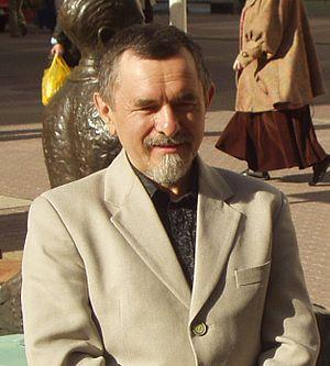 Józef Baran - Józef Baran at Piotrkowskiej-street in Łodz (2005)