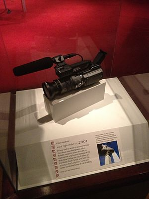 Jules and Gédéon Naudet - Camera used by Jules Naudet that captured Flight 11 crashing into the North Tower of the World Trade Center