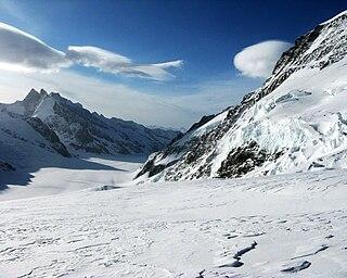 Fiescher Gabelhorn mountain in Switzerland