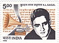KL Saigal 1995 stamp of India.jpg